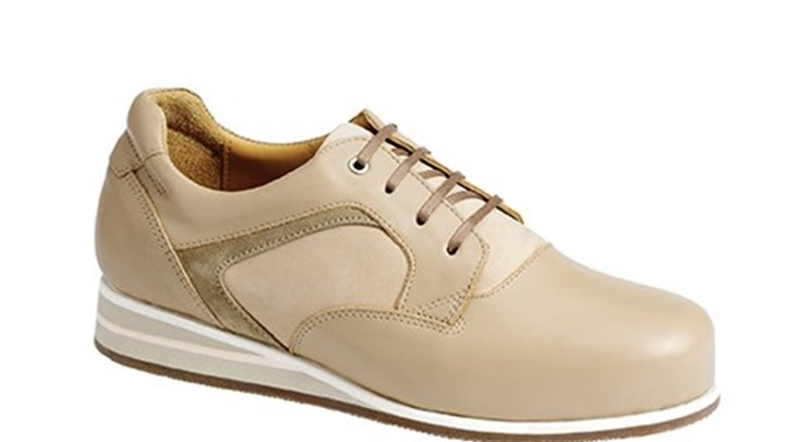 3650.1600 Piedro Womens Casual Shoes Taupe Combination Lace.jpg
