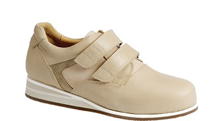 3651.1600 Piedro Womens Casual Shoes Taupe Combination Velcro.jpg