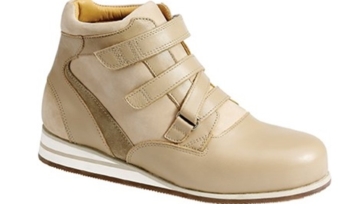 3661.1600 Piedro Womens Casual Boots Taupe Combination Velcro.jpg